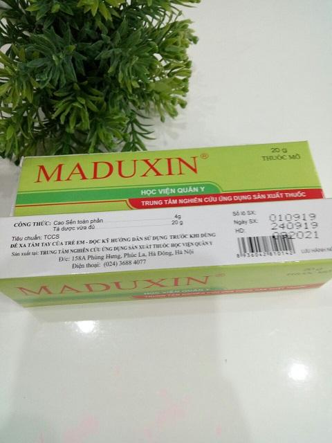thuốc bỏng maduxin từ cao sến